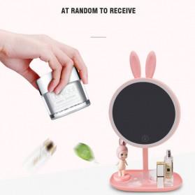 Cermin Makeup dengan Lampu LED Ring Light Model Rabbit - Pink - 8