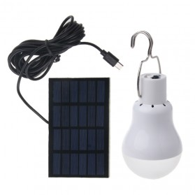 Lampu Bohlam LED Camping 15W 130 Lumens with Solar Panel - White
