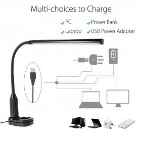 Tomshine Lampu Meja LED Eye Protection Desk Lamp Clip 24 LED 5W 5000K-5500K - L1515W - White - 7