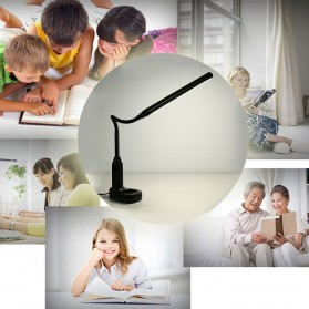 Tomshine Lampu Meja LED Eye Protection Desk Lamp Clip 24 LED 5W 5000K-5500K - L1515W - White - 8