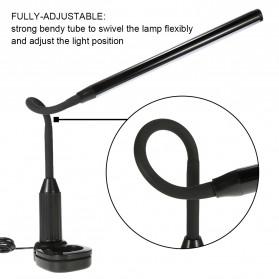 Tomshine Lampu Meja LED Eye Protection Desk Lamp Clip 24 LED 5W 5000K-5500K - L1515W - White - 9