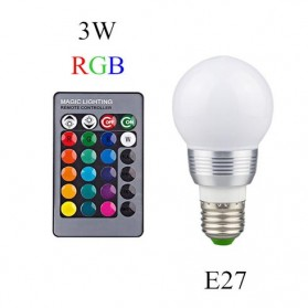 Lampu Bohlam LED Bigger RGB 3W 16 Colors with Remote Control - E27