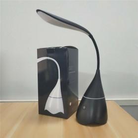 Lampu Meja Belajar LED dengan Bluetooth Speaker - Black - 5