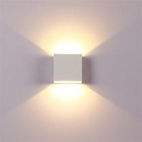 Feimefeiyou Lampu Hias Dinding LED Minimalis Aluminium 6W Warm White - MSL021 - White