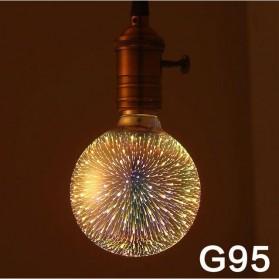 Lampu Bohlam LED Dekorasi Fireworks 3D E27 220V 4W - G95 - Mix Color