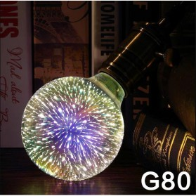 Lampu Bohlam LED Dekorasi Fireworks 3D E27 220V 4W - G80 - Mix Color - 1