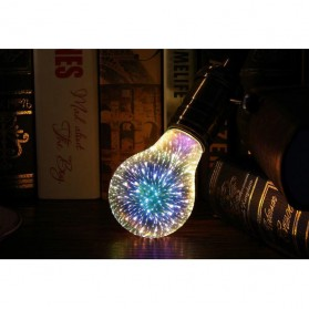 Lampu Bohlam LED Dekorasi Fireworks 3D E27 220V 4W - G125 - Mix Color - 6