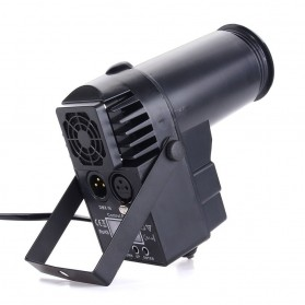 Illumsolid Lampu Sorot Panggung Spotlight DMX512 Sound System - YS-P01 - Black - 2
