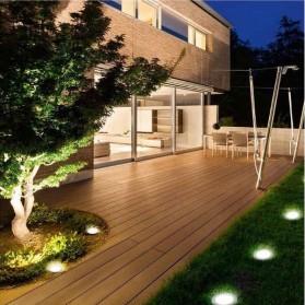 TaffLED Lampu Tanam LED Solar Outdoor 8 LED Waterproof - CL-022 - Warm White - 7