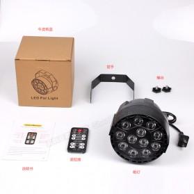 BleuFonce Lampu Sorot LED Par Light Dekorasi Ruangan dengan Remote Control - HY-W0712 - Black - 6