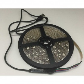 Lampu Led Strip 5050 RGB with USB Controller 3M - Multi-Color - 3