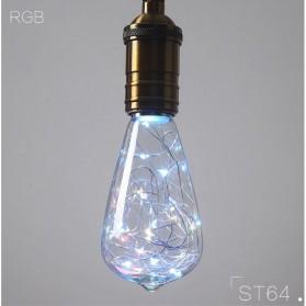 Lampu Bohlam Dekorasi LED Bulb String E27 1.6W - ST64 - Blue