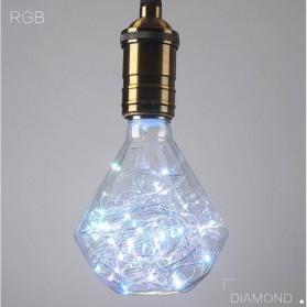Lampu Bohlam Dekorasi LED Bulb String E27 1.8W - Diamond - Blue