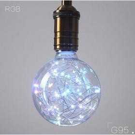 Lampu Bohlam Dekorasi LED Bulb String E27 1.8W - G95 - Blue