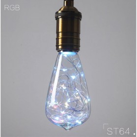 Lampu Bohlam Dekorasi RGB LED Bulb String E27 1.6W - ST64