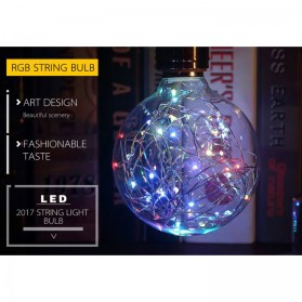 Lampu Bohlam Dekorasi RGB LED Bulb String E27 1.6W - ST64 - 5