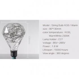 Lampu Bohlam Dekorasi RGB LED Bulb String E27 1.8W - Diamond - 2