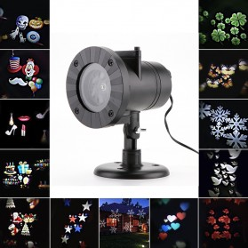 Lampu Sorot LED Outdoor Change Card RGB 12 Pattern - LM-2118 - Black
