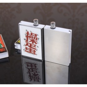 Korek Api Outdoor Kerosene Lighter Magnesium Waterproof - ES002 - Silver - 3