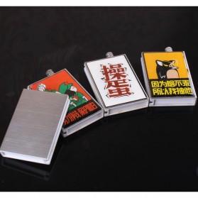 Korek Api Outdoor Kerosene Lighter Magnesium Waterproof - ES002 - Silver - 4