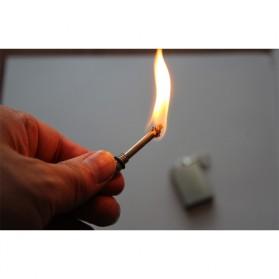 Korek Api Outdoor Kerosene Lighter Magnesium Waterproof - ES002 - Silver - 5