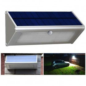 Lampu Solar Panel Sensor Gerak Outdoor 48 LED IP65 Waterproof - 1606 - Silver