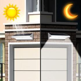 CHIZAO Lampu Solar Sensor Gerak Outdoor 24 LED 1.5W 450 Lm - HBT1612 - Silver - 4