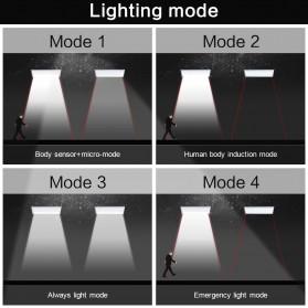 CHIZAO Lampu Solar Sensor Gerak Outdoor 24 LED 1.5W 450 Lm - HBT1612 - Silver - 5
