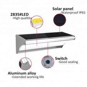 CHIZAO Lampu Solar Sensor Gerak Outdoor 24 LED 1.5W 450 Lm - HBT1612 - Silver - 7