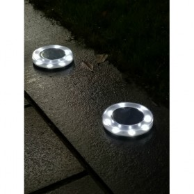 Lampu Hias Taman LED Solar Lamp Garden Landscape Path Light 8 LED 2 PCS - GA-003 - White