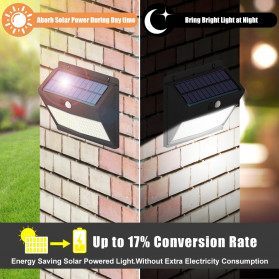 SINJIAlight Lampu Solar Panel Sensor Gerak Outdoor Waterproof 108 LED Warm White 1 PCS - SJ025 - Black - 9