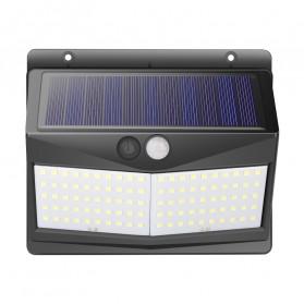 SINJIAlight Lampu Solar Panel Sensor Gerak Outdoor Waterproof 108 LED Warm White 1 PCS - SJ025 - Black - 7