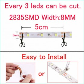 Lampu Led Strip Dimmable SMD 2835 RGB 12V 5 Meter - Multi-Color - 2