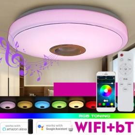 Smuxi Lampu LED RGB Plafon Ceiling Light Bluetooth Speaker 36W 33cm - BR1530 - White
