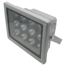 Lampu Rumah - Lampu Sorot Waterproof LED Floodlight Lamp 12W 800-900 Lumens AC 85-265V 6000-6500k - Silver