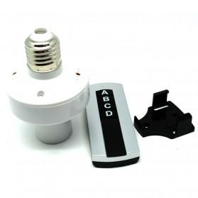 Socket Bohlam E27 220V dengan Remot Kontrol - White