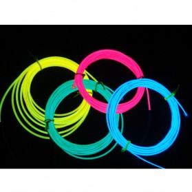 ElectroLuminescent Wire / El Wire Diameter 2.3mm Length 3m with Power Inverter - Yellow - 1