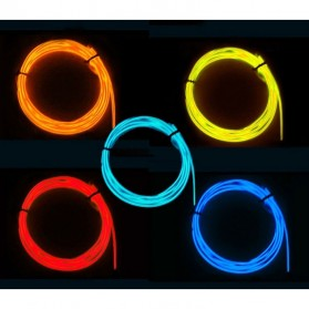 ElectroLuminescent Wire / El Wire Diameter 2.3mm Length 3m with Power Inverter - Yellow - 2
