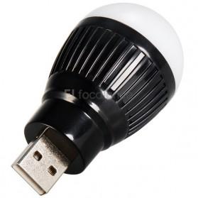 Lampu LED USB Bentuk Bohlam Mini - Black