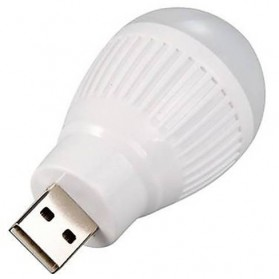 Lampu LED USB Bentuk Bohlam Mini - White