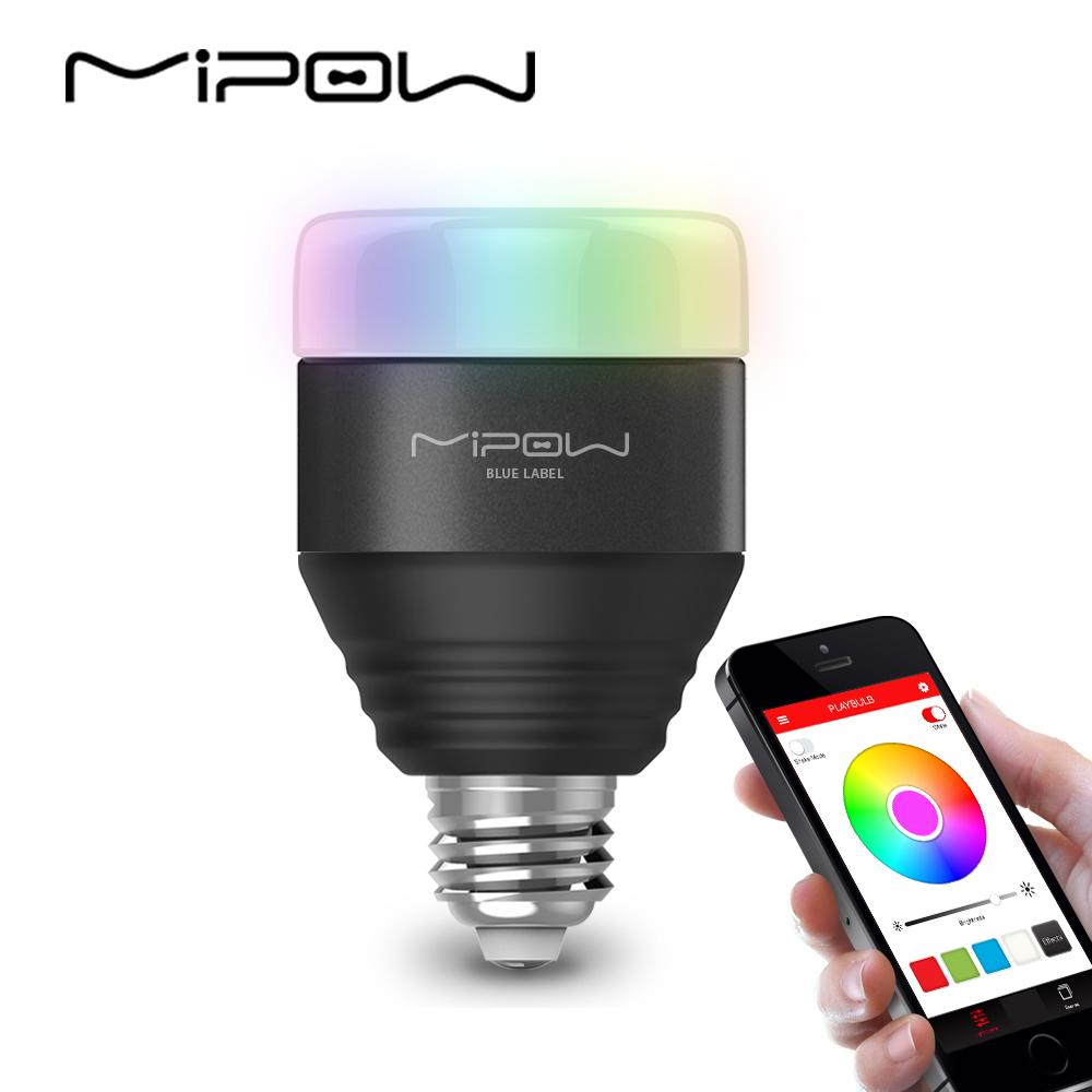 Mipow Lampu Bohlam Smart Bulb Led Rgb 5w E27 Btl201 Black Infrared Philips Kesehatan 1