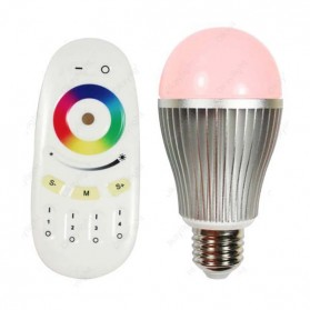 Taff Wireless 2 X RGBW 9W LED Bulb with Remote Controller - OK-2035 - Silver