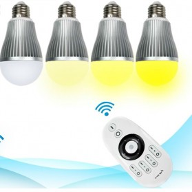 Taffware Wireless 2 X RGBW 6W LED Bulb with Remote Controller - OK-2034 - White