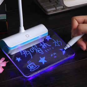 Novelty Lampu Meja Memo Tulis Message Rechargeable 6000-6500K - White/Green - 4