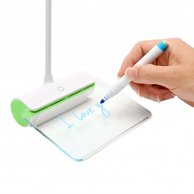 Novelty Lampu Meja Memo Tulis Message Rechargeable 6000-6500K - White/Green - 5