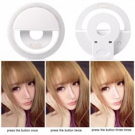 JOYTOP Selfie Light Lampu LED Kamera Smartphone - RK-12 - Black - 4