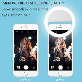 JOYTOP Selfie Light Lampu LED Kamera Smartphone - RK-12 - Black - 5