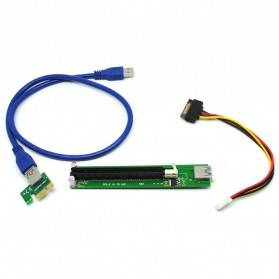 PCI-E Riser 1x to 16x SATA Power USB 3.0 for Bitcoin Miner