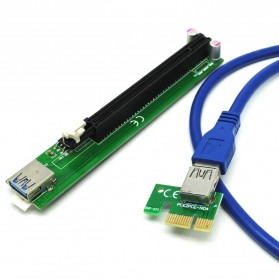 PCI-E Riser 1x to 16x SATA Power USB 3.0 for Bitcoin Miner - 4