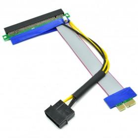 Kabel Ekstensi PCI-E 1x ke 16x dengan Konektor Power Molex for Bitcoin Miner - 2